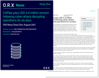 ORX News ColPipe Deep Dive pages